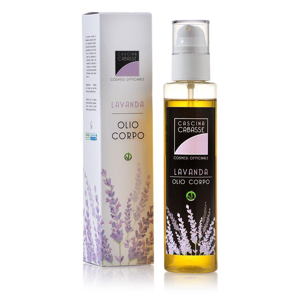 Lavanda Olio Corpo con olio extravergine d'oliva, di semi di girasole, di vinaccioli e mandorle dolci - Cascina Cabasse